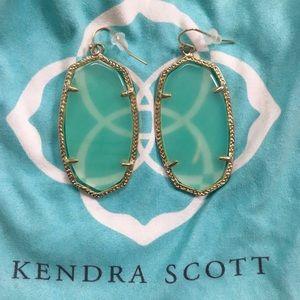 Kendra Scott Danielle Chalcedony Gold Earring